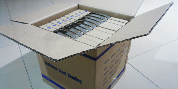 Stainless Steel Banding In Carton Box