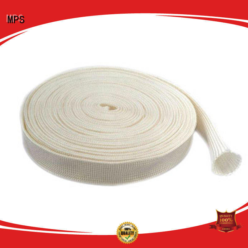 MPS industrial amorphous silica fabrics sleevings for wires